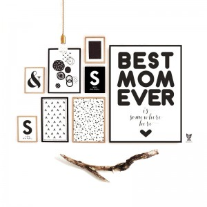 """BEST MOM EVER"" PLAKAT DLA MAMY"