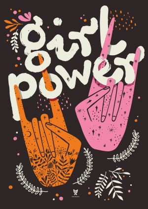"PLAKAT ""GIRL POWER"" CIEMNY"
