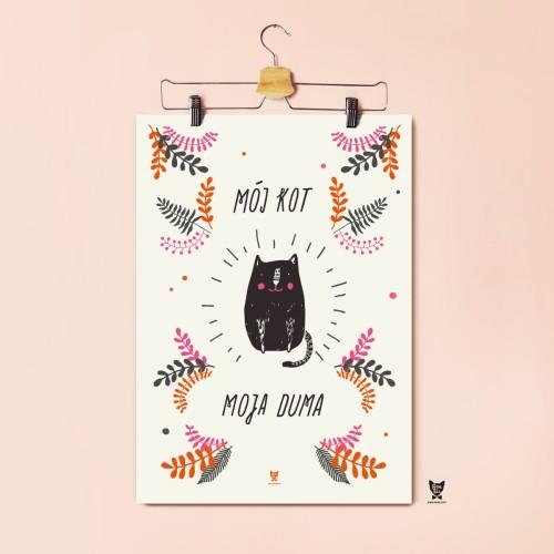 Plakat Dla Posiadaczy Kotów Mój Kot Moja Duma