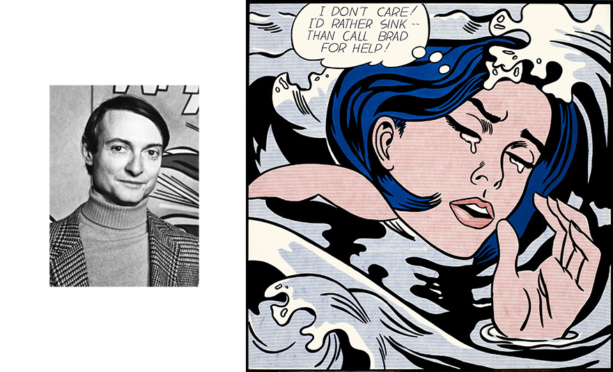 Pop Art Print Drowning Girl by Roy Lichtenstein